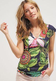 Desigual ERASMO - T-shirts print - navy