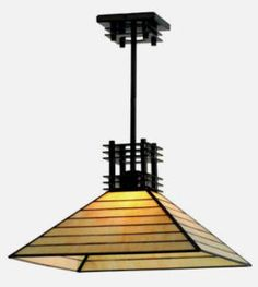 Mission Arts & Craft Asian Lighting Ceiling Pendant Light Fixture FREE SHIP  | eBay