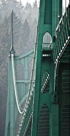 St John s Bridge Portland Oregon Images Wallpaper, Wallpapers, Emerald City, Emerald Green, Saint John, Go Green, Fresh Green, Olive Green, Portland Oregon