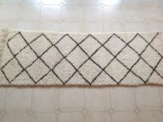 BENI OURAIN. Vintage Moroccan Runner Rug. by theboucherouiteshop