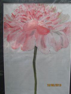 Silk Seide handmade silkpainting Blume auf Seide gemalt.........   Ursula Pauly