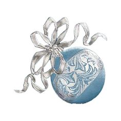 Ball with ribbon.png ❤ liked on Polyvore featuring christmas