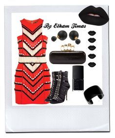 """""""Tribal"""" by fabulously-fab on Polyvore featuring Manic Panic, Lime Crime, NARS Cosmetics, Bling Jewelry, Balmain and Alexander McQueen"""