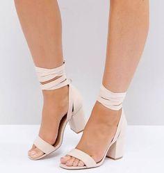 2aaafd9c7976 block heels with fabric tie - Google Search Grey Block Heel Sandals