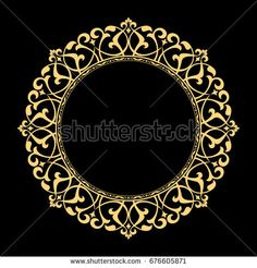 Decorative line art frame for design template. Elegant vector element Eastern style, place for text. Lace illustration for invitations and greeting cards. Diy Wall Painting, Pottery Painting, Cnc Wood Carving, Afrique Art, Deco Paint, Decorative Lines, Turkish Art, Celtic Designs, Border Design