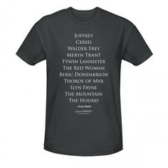 Game of Thrones Arya's Kill List T-Shirt