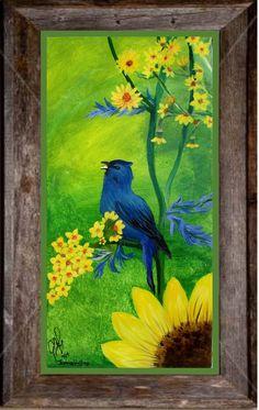 Canvas Art by Jamie - Indigo Bunting