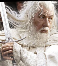 Gandalf played by Sir Ian McKellen in The Lord of the Rings Trilogy.
