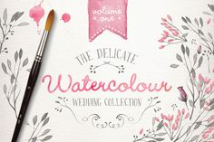 Check out Watercolor wedding collection vol 1 by Glanz Graphics on Creative Market