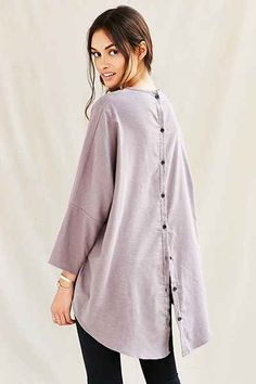 Urban Renewal Remade Button My Back Tunic Dress - Urban Outfitters