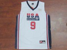 1992 USA Dream Team White  9 Michael Jordan Jersey 1992 USA Dream Team  White  9 Michael Jordan Jersey d6c0945c82d9