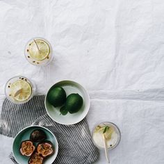 Summery sweets - homemade passion and lime popsicles, accompanied by Royal Doulton 1815 collection serving bowls