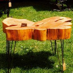 macrocarpa table - oiled