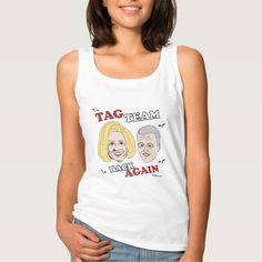 Tag Team Back Again - Hillary and Bill Basic Tank Top Tank Tops