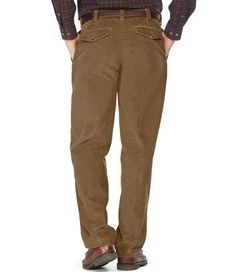 Country Corduroy Trousers, Hidden Comfort Waist Pleated | Mens ...