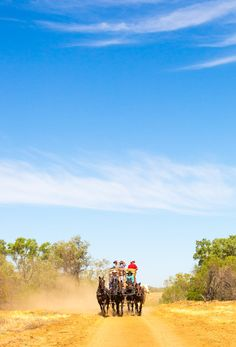 Step back in time on a stagecoach ride in Longreach, Outback Queensland, Australia