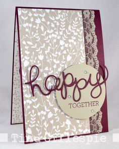 Stampin' Up Hello You Framelits and Crazy about You Stamp Set. DSP and Ribbon. Simple but so elegant.