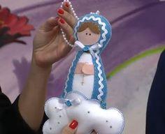 Nossa Senhora das Graças em feltro; feltro santinha; virgencita em fieltro, feltro nossa senhora - parte 1