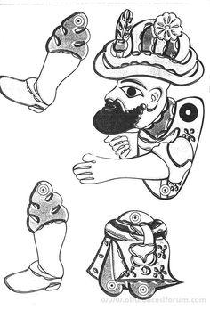 Karagöz Ve Hacivat Boyama Etkinliği Boyama Sketches Paper