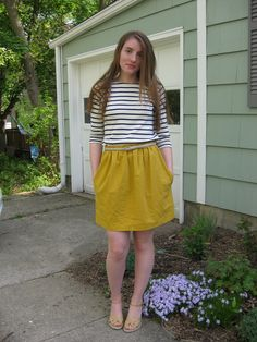 boat neck and skirt!