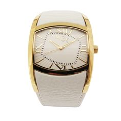 d916b67e8bf Nice Italy Womens Diva-s Stainless Watch - White Leather Strap - White Dial  -