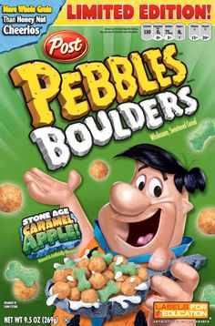 Pebbles Boulders cereal..does anyone remember these? I do not.