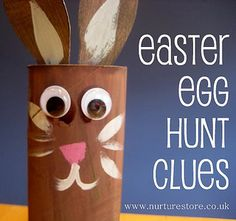 We did a scavenger hunt for eggs last year, with each egg holding the clue to the next egg...here are more ideas for clues!