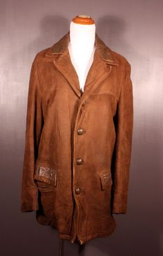 Vintage made-in-USA McGregor leather coat, men's size L, available at our eBay store! $35
