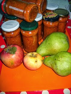Lulu - Povesti din Bucatarie: Zacusca de legume si fructe Pear, Food, Essen, Meals, Yemek, Eten, Bulb