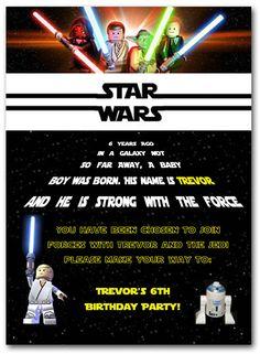 Star wars theme party invitations decorations full printable lego star wars birthday invitations free invitetown stopboris Images