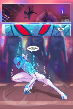 Spider Verse Digital Spider-man fan comic page 3 by Joey Vazquez