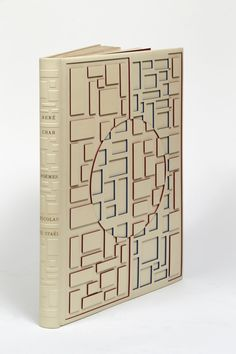 René CHAR - Nicolas de STAËL POEMES Paris, [Jacques Dubourg - Aux dépens de l'artiste], 1952  BINDING:  P.-L. Martin - 1980