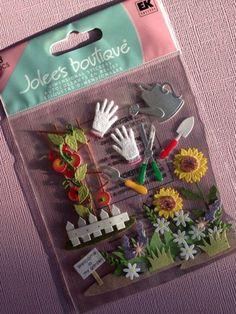 EASTER BUNNIES EK SUCCESS JOLEE/'S BOUTIQUE 3-D STICKERS BUNNY FLOWERS