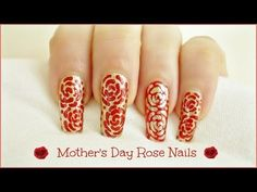 Mother's Day Rose Nail Art! -    https://www.avon.com/?repid=16581277  Hi Loves! Happy Mother's Day to all ♥ Your mother is the most important woman in your life, so make a personal and original gift for her. Why not nail art? She will be very happy and proud  I have made this design for my mom, she loves red roses and gold is her favorite color  You can choose any colors that your mom likes. In this step by step tutorial, I will teach you how to create this very