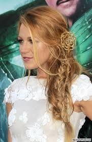 french braid on side of head and curls - Google-haku