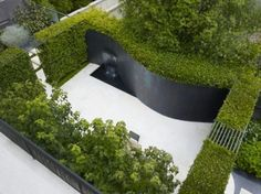 Outdoor Design, Modern Curved Garden Ideas For Small Backyard Landscaping Plan: How to Plan a Small Garden Layout with the Perfect Plants and Structures Modern Landscape Design, Modern Garden Design, Modern Landscaping, Landscape Architecture, Backyard Landscaping, Backyard Designs, Landscaping Ideas, Green Landscape, Architecture Design