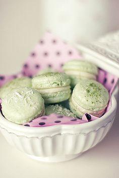 Lime Macarons: by Call me cupcake