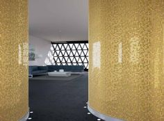 Golden inspired #mosaic wall with crystals and luxury #stones.  #decoration…
