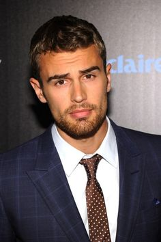 Theo James and those eyebrows that go up near the nose…OMG (please follow minkshmink on pinterest)
