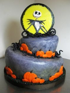 Jack Skellington Halloween Cake By cakefella on CakeCentral.com