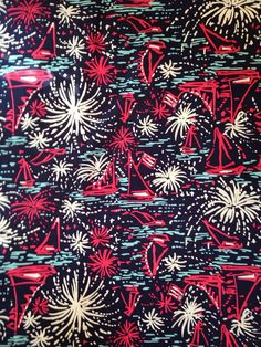 """Lilly Pulitzer fabric in """"Sparks Fly"""" via The Preppy Pony Shop on etsy"""