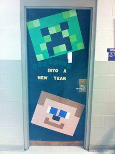 Minecraft classroom door