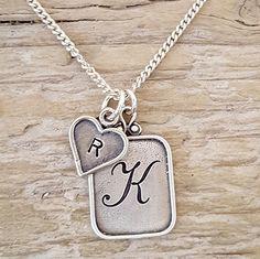 Moederketting met initialen   Ketting met letters   Echt 925 zilver