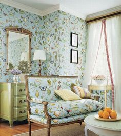 French Interior Design in Wallpaper Ideas