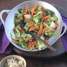 Plats Weight Watchers, Wok, Healthy Recipes, Homemade, Vegetables, Cooking, Recipies, Dessert, Salads