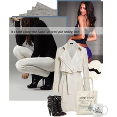 A fashion look from December 2014 featuring trench coat, leather booties e shopping tote. Browse and shop related looks.