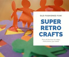 Good retro crafts and old-fashioned craft projects for kids that are still super cool! Keep them busy with these endlessly creative arts and crafts ideas with how-to videos. Clay Crafts For Kids, Creative Arts And Crafts, Craft Projects For Kids, Arts And Crafts Projects, Craft Activities For Kids, Family Activities, Garden Projects, Clay Art Projects, Weaving Projects
