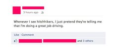 Whenever I see hitchhikers...