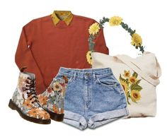 """""""snow white"""" by aliceindisneyworld ❤ liked on Polyvore featuring Wet Seal, Chicnova Fashion and Dr. Martens"""