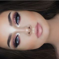 Love her ❤❤❤❤ @jessicarose_makeup perfection #hudabeautyrosegoldpalette @shophudabeauty faux mink lashes in Farah